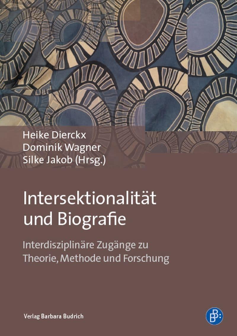 Buchcover in Braun- und Blautönen zu Intersektionalität und Biografie