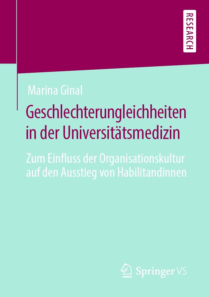 Buchcover Geschlechterungleichheiten in der Universitätsmedizin